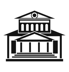 Theater building icon simple style vector
