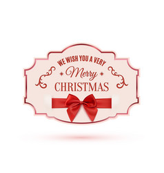 We wish you a very merry christmas ornate banner vector