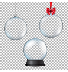 xmas balls set with transparent background vector image vector image
