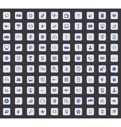 100 Hi-Tech icon set square vector image