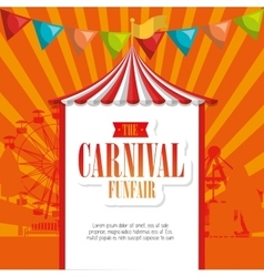 entertainment carnival funfair banner vector image