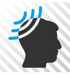 Radio reception head icon vector