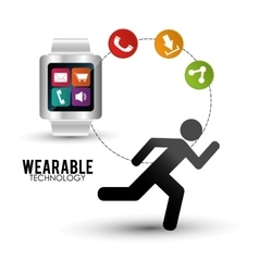Smart watch wearable technology portable accessory vector