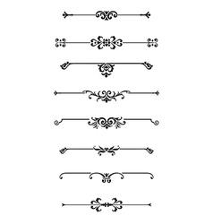 Set of calligraphic design elements decor vector