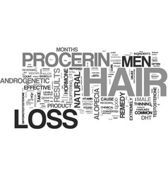 A hair loss cure for men text word cloud concept vector