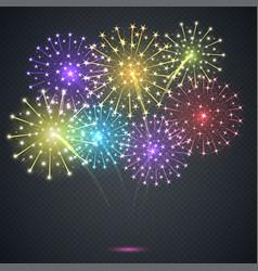 Firework festive explosion vector