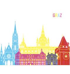 Graz skyline pop vector