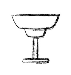 glass cup isolated vector image