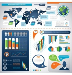 Set of infographic elements information graphics vector