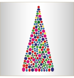 Abstract bright Christmas tree vector image