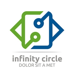Logo abstract design connect infinity circle vector