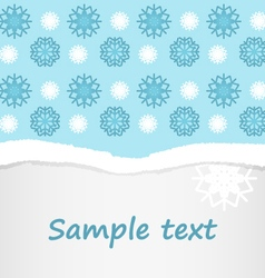 Snowflakes christmas postcard background vector