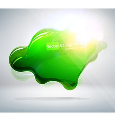 Green blob background vector