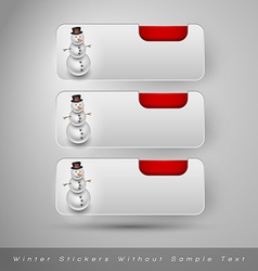 Winter stickers with snowman design elements vector