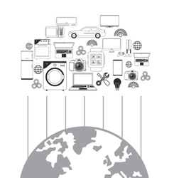 Internet and technology design vector
