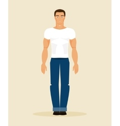 The man in modern clothes vector
