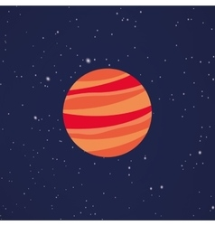 Abstract cartoon planet vector