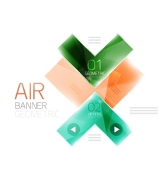 Arrow option banner vector