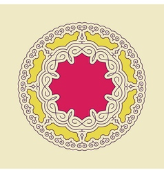 Ethnic circle element orient traditional design vector