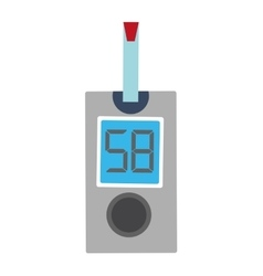 Glucometer with strip icon vector