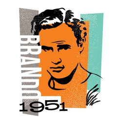 Actor marlon brando vector