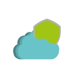 Cloud shield protection information technology vector