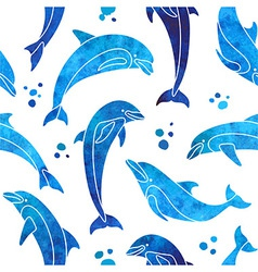 Dolphins seamless pattern vector