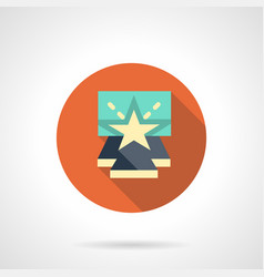 Entertainment show flat round icon vector