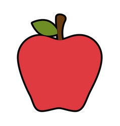 fresh apple fruit icon vector image