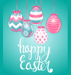 happy easter spring holiday background vector image