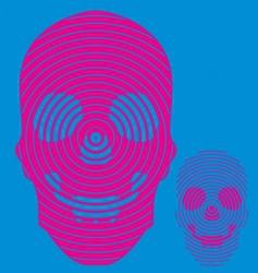 hypno skull vector image vector image