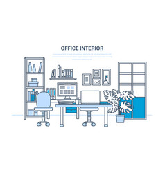 interior of the office room with a workplace vector image vector image
