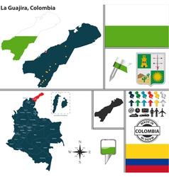 Map of la guajira vector