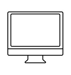 Monitor computer icon vector