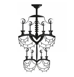 Neoclassic modern chandelier vector