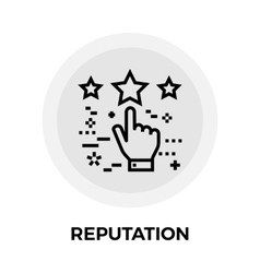 Reputation line icon vector