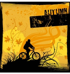 riding bicycle vector image