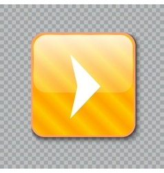Right arrow icon glossy yellow button vector