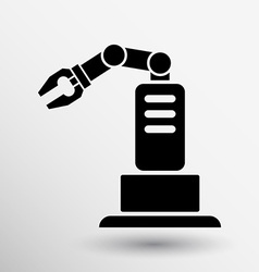 Robotic production icon button logo symbol concept vector