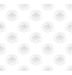 rose seamless on white background vector image vector image