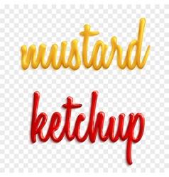Sauce words vector