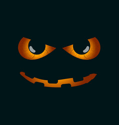 scary face evil scary eyes black pupils vector image
