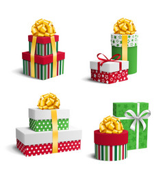 Set collection of colorful celebration christmas vector
