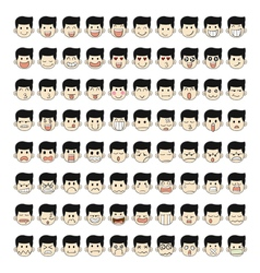 Set of 80 face emotions vector
