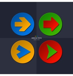 set of arrow signs vector image