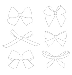 Set of graphical decorative bows vector image vector image