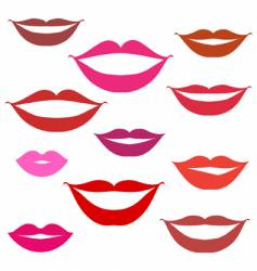 Smiles lips background vector