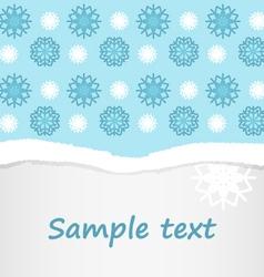 Snowflakes christmas postcard background vector