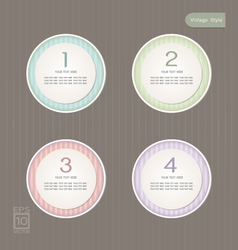 Sticker Label color set Vintage style vector image