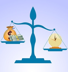 Time is more valuable than money vector